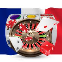 roulette carte dé machine à sous drapeau France